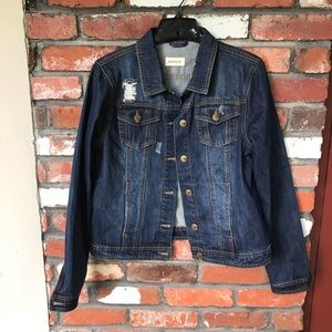 Mono B distressed denim jacket Large